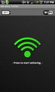 Tethering tablet